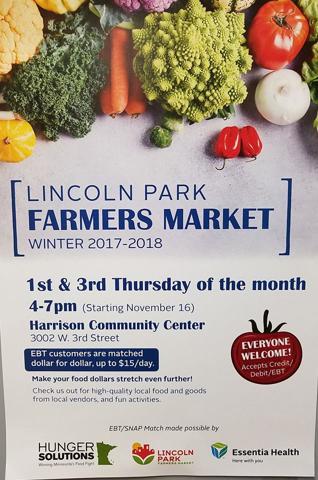 Lincoln Park WINTER Farmers Market Every 1st and 3rd Thursday